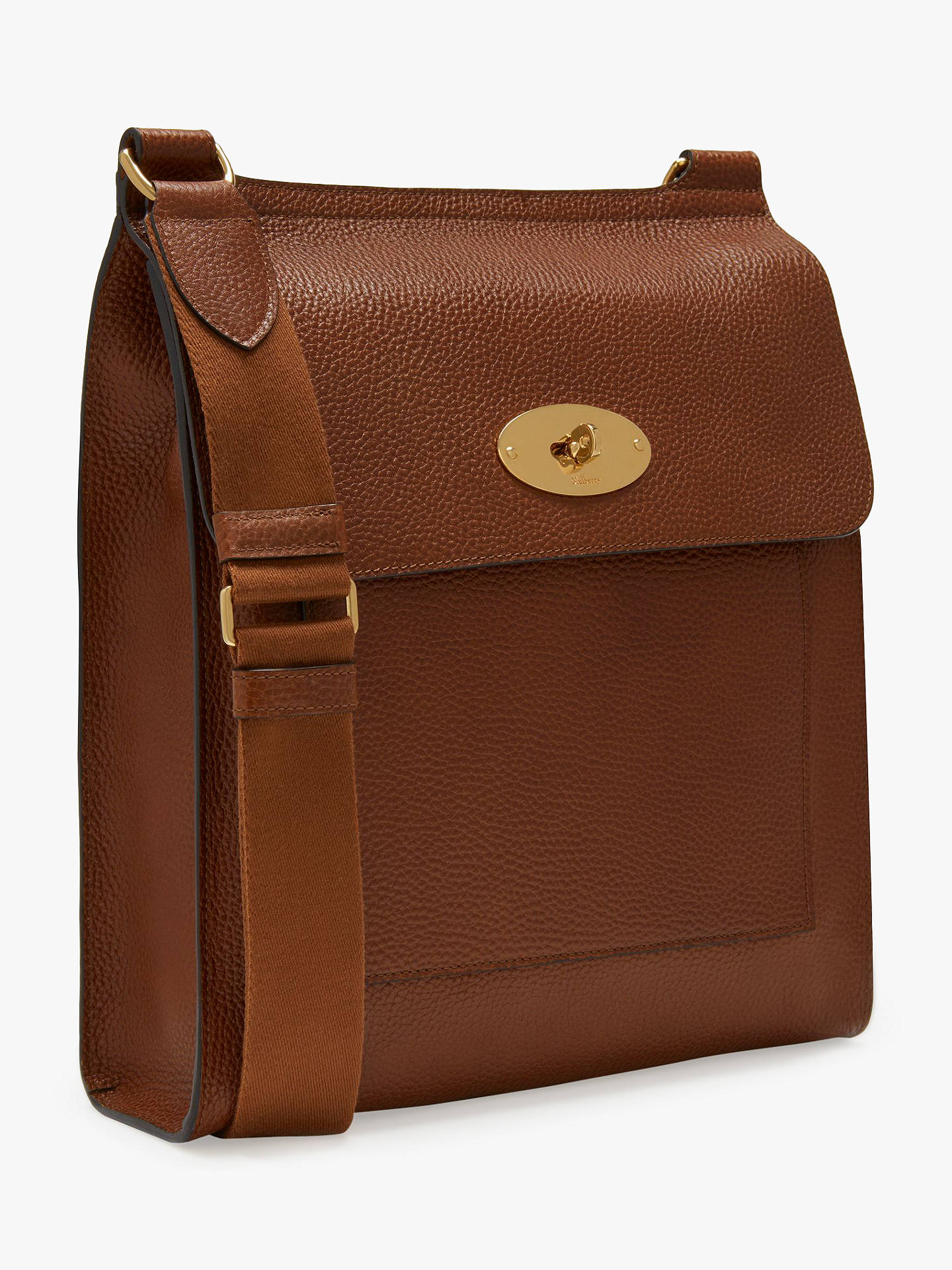 b35ff15203a ... Buy Mulberry Antony Grain Veg Tanned Leather Messenger Bag, Oak Online  at johnlewis.com ...