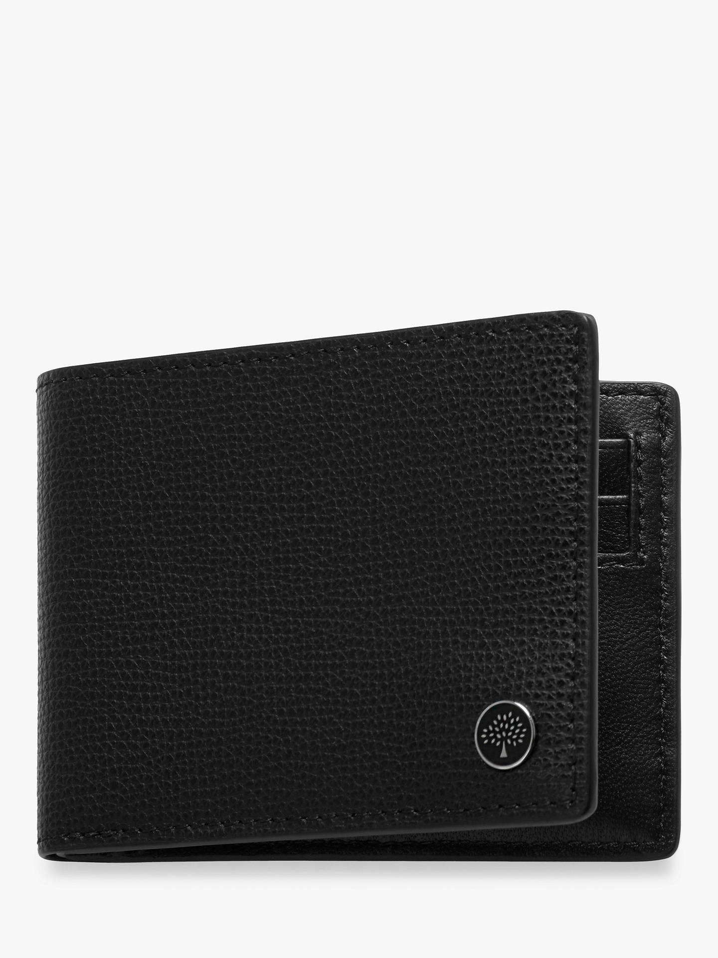 92d9af1c38 Buy Mulberry Tree Plaque Six Card Cross Grain Leather Wallet, Black Online  at johnlewis.
