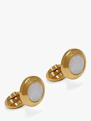 Mulberry Round Mother of Pearl Cufflinks