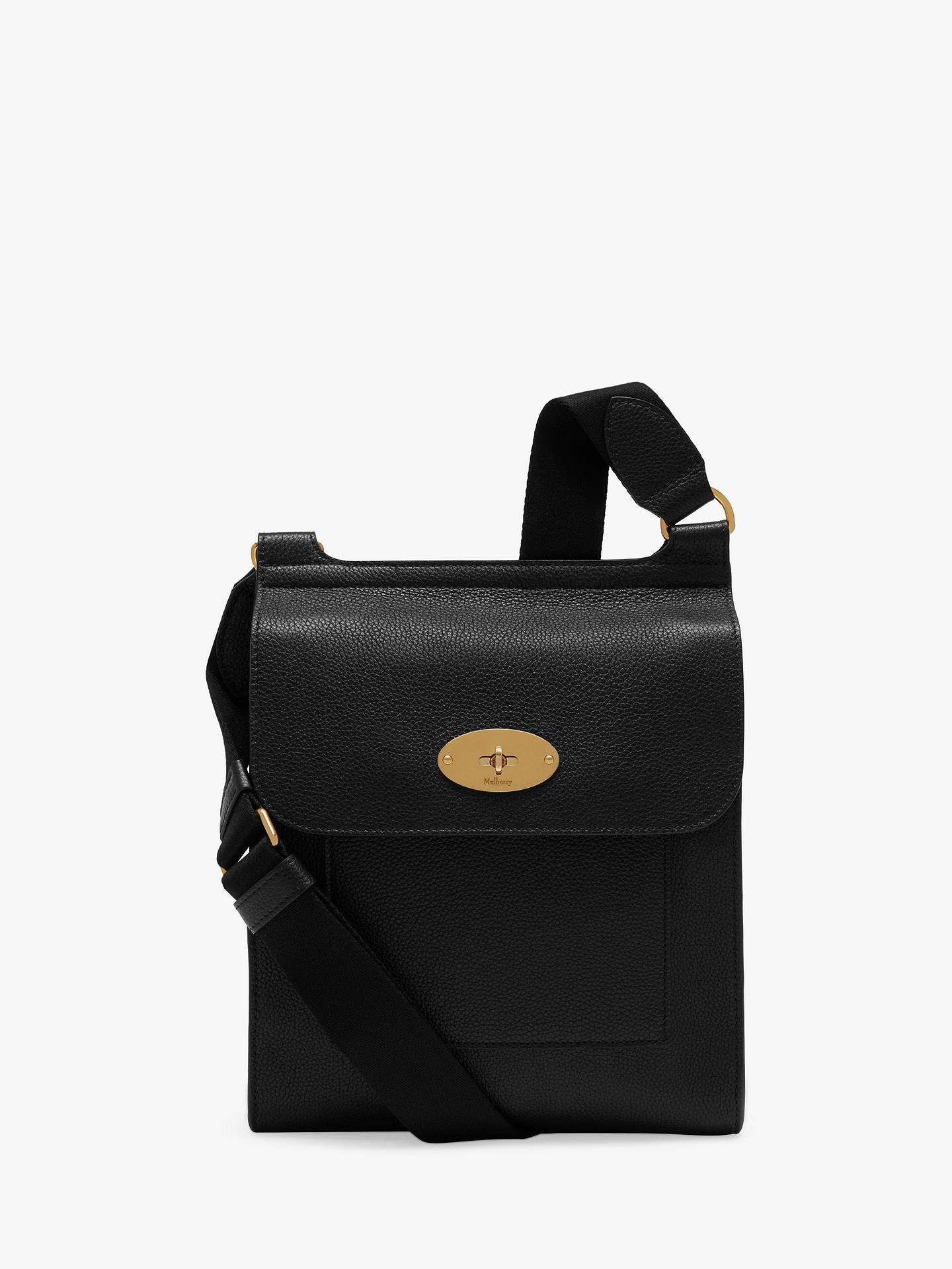 633d221de2d Buy Mulberry New Antony Small Classic Grain Leather Satchel, Black Online  at johnlewis.com ...