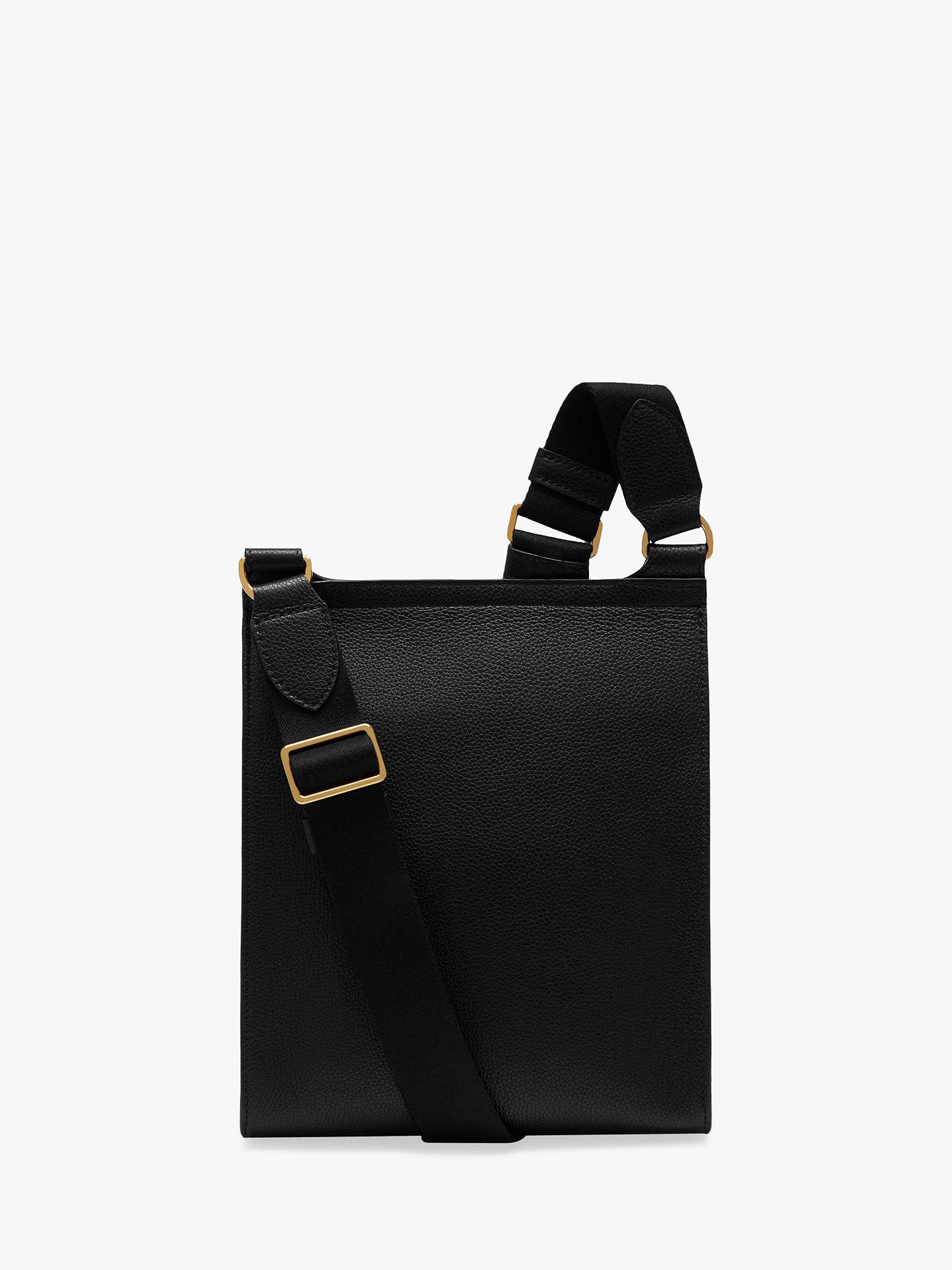 6c8a5eb9ae2 ... Buy Mulberry New Antony Small Classic Grain Leather Satchel, Black  Online at johnlewis.com ...