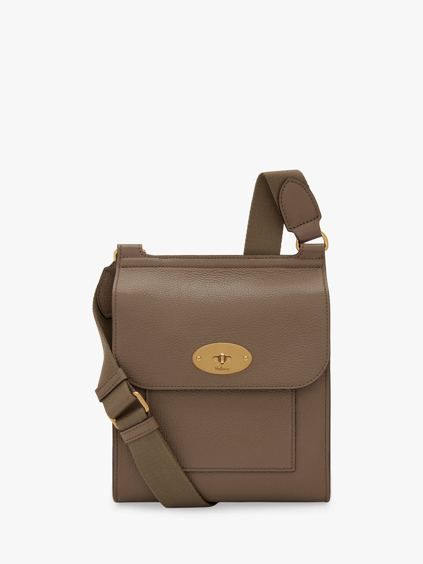 dbdbf74aa39 Buy Mulberry Small Antony Grain Veg Tanned Leather Satchel, Clay Online at  johnlewis.com ...