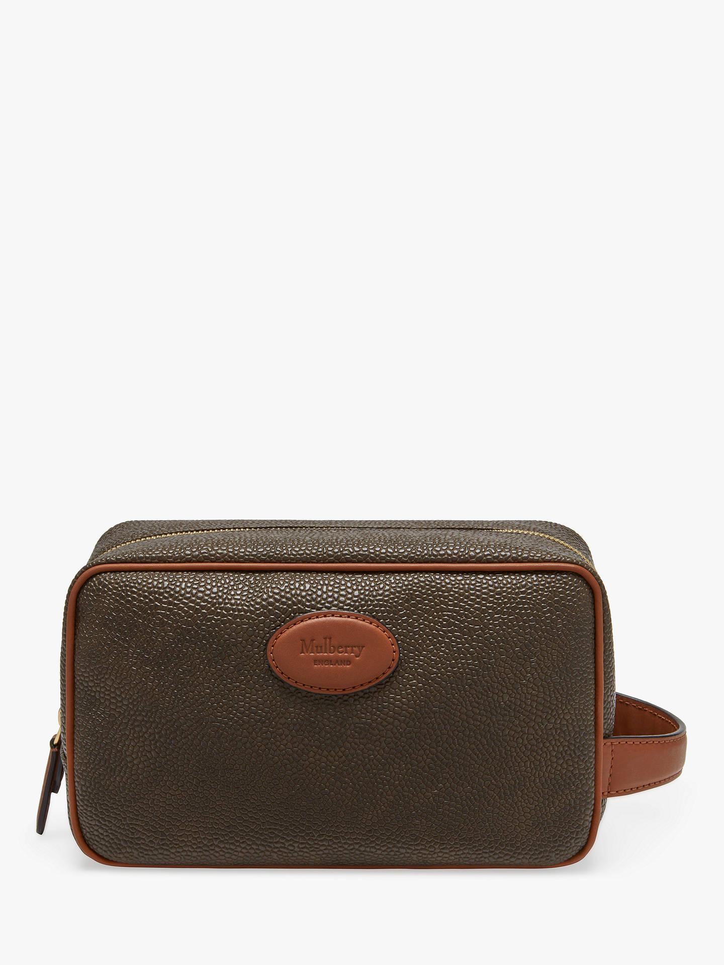362d7d27c4505 Buy Mulberry Scotchgrain Wash Bag, Mole/Cognac Online at johnlewis.com ...
