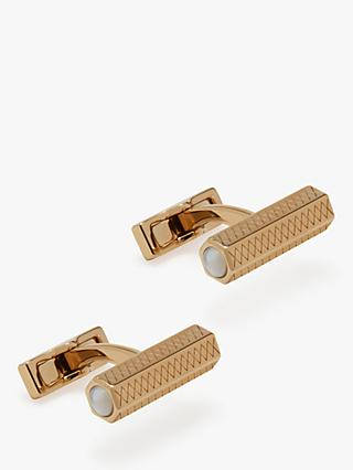 Mulberry Hexagonal Bar Cufflinks, Cream