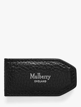 Mulberry Grain Veg Tanned Leather Money Clip