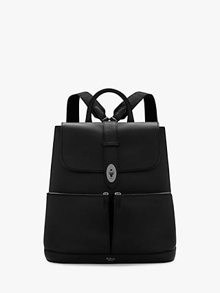 Mulberry Reston Leather Backpack, Black