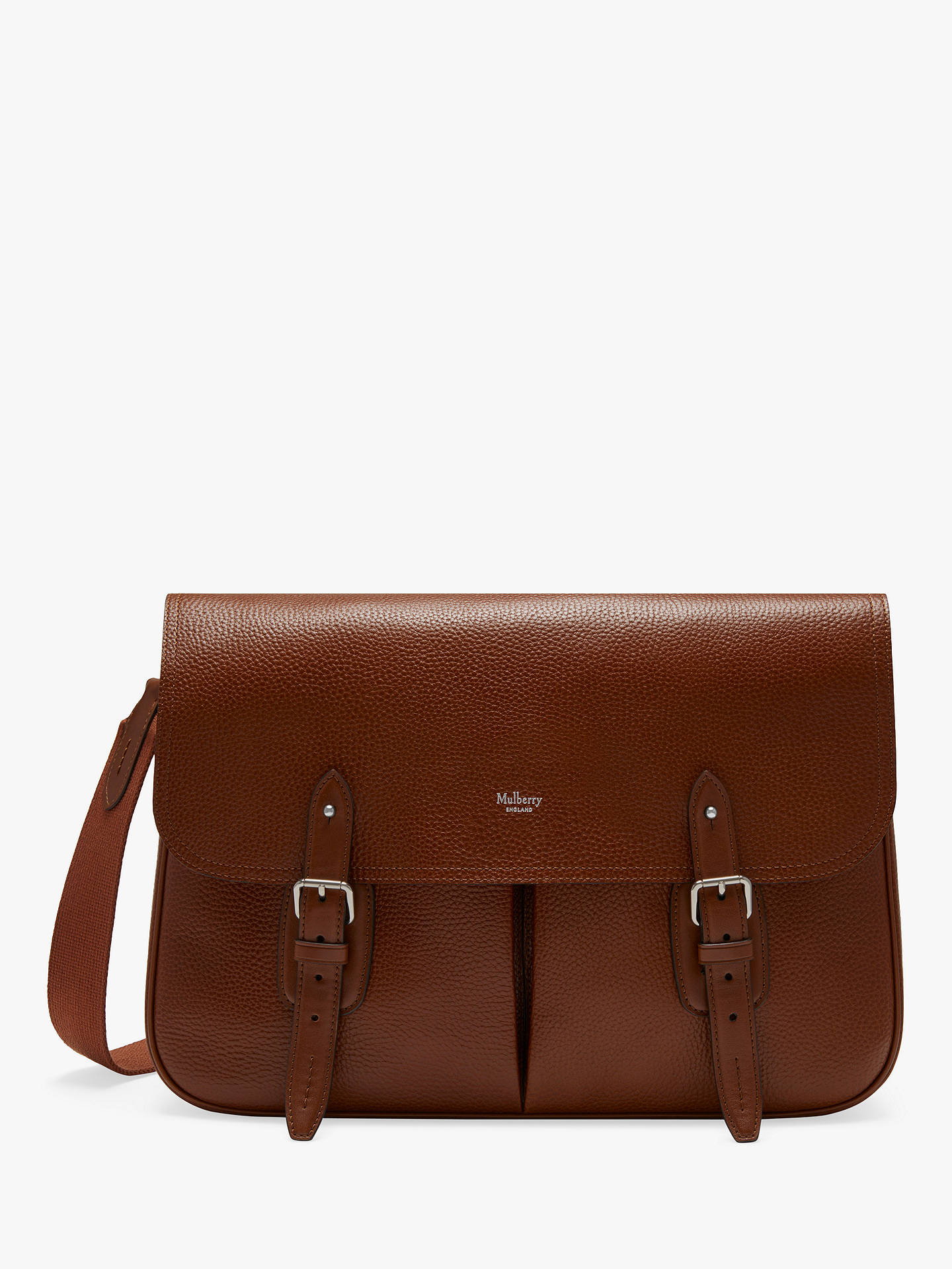 df41cf8ca1 Buy Mulberry Heritage Grain Veg Tanned Leather Messenger Bag