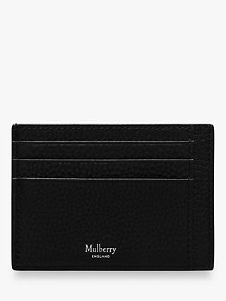 Mulberry Grain Veg Tanned Leather Card Holder