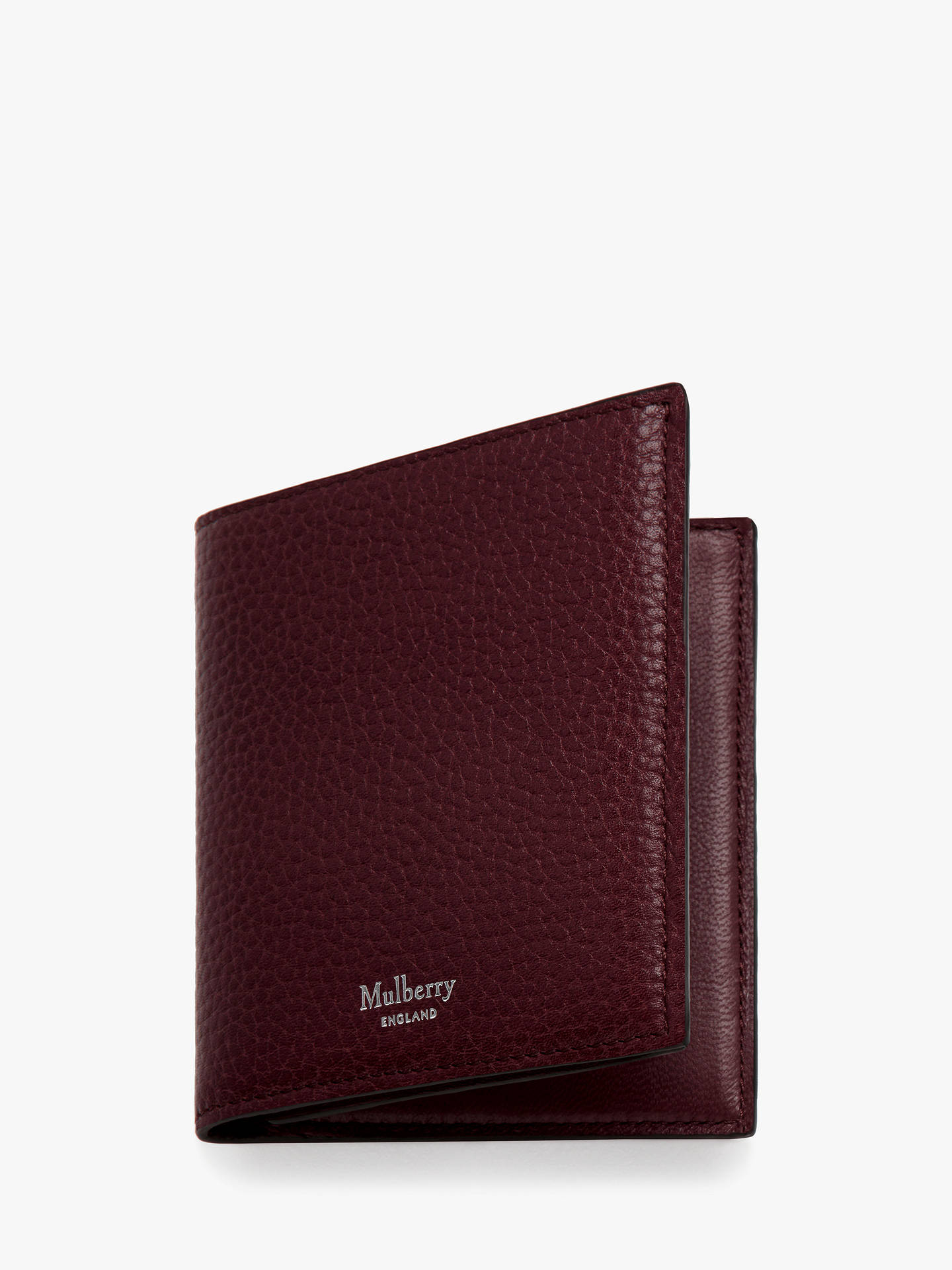 e2d8a61807 Buy Mulberry Grain Veg Tanned Leather Trifold Wallet, Oxblood Online at  johnlewis.com ...
