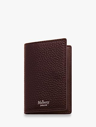 Mulberry Grain Veg Tanned Leather Card Case