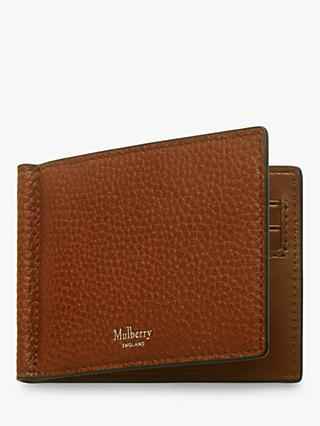 029f629b1c2d Mulberry Tree Plaque Grain Veg Tanned Leather Money Clip Wallet
