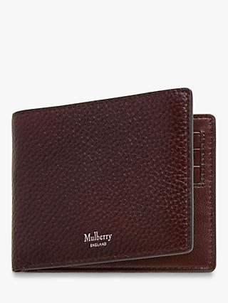 Mulberry 8 Card Grain Veg Tanned Leather Wallet, Oxblood
