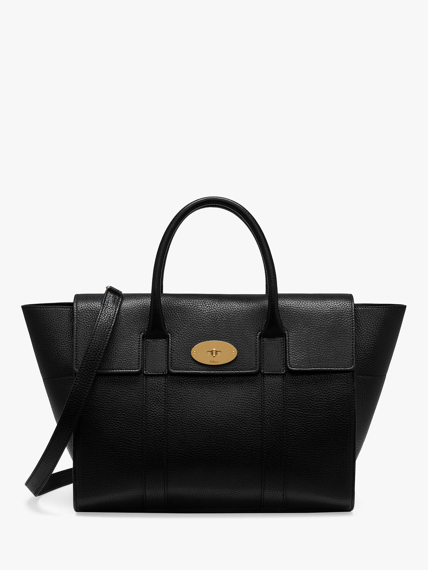 342cfe81e5 Buy Mulberry Bayswater with Strap Small Classic Grain Leather Bag