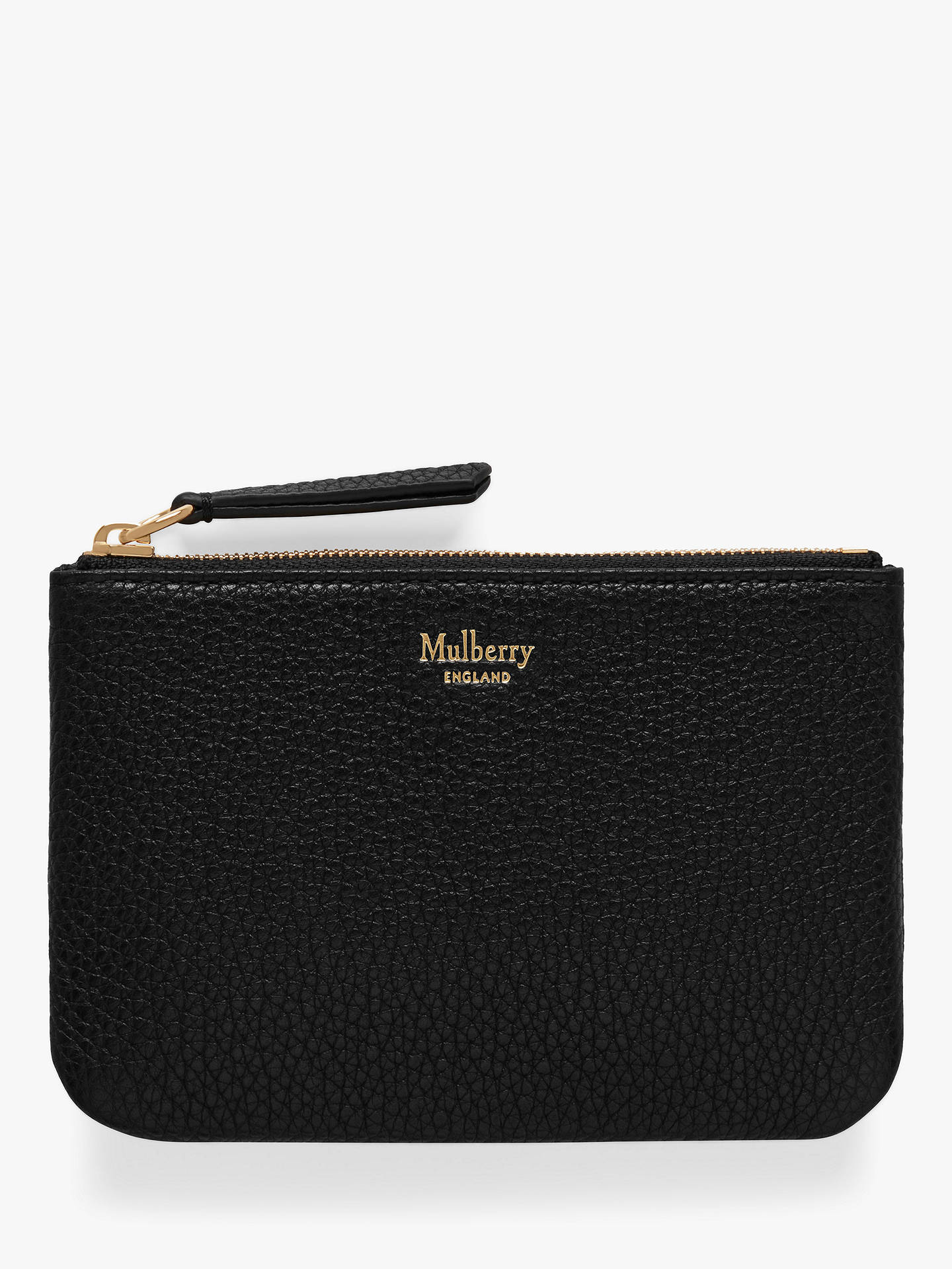 83dd5280 Mulberry Small Classic Grain Leather Zip Coin Pouch, Black