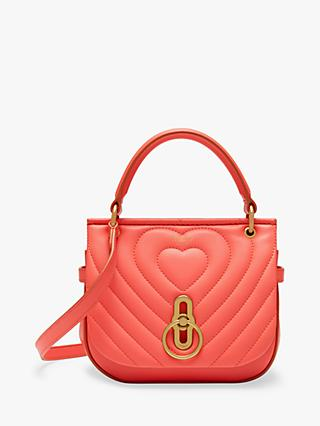 Mulberry Amberley Quilted Heart Na Leather Satchel Dusty C