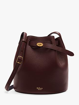 Mulberry Abbey Small Classic Grain Leather Bucket Bag