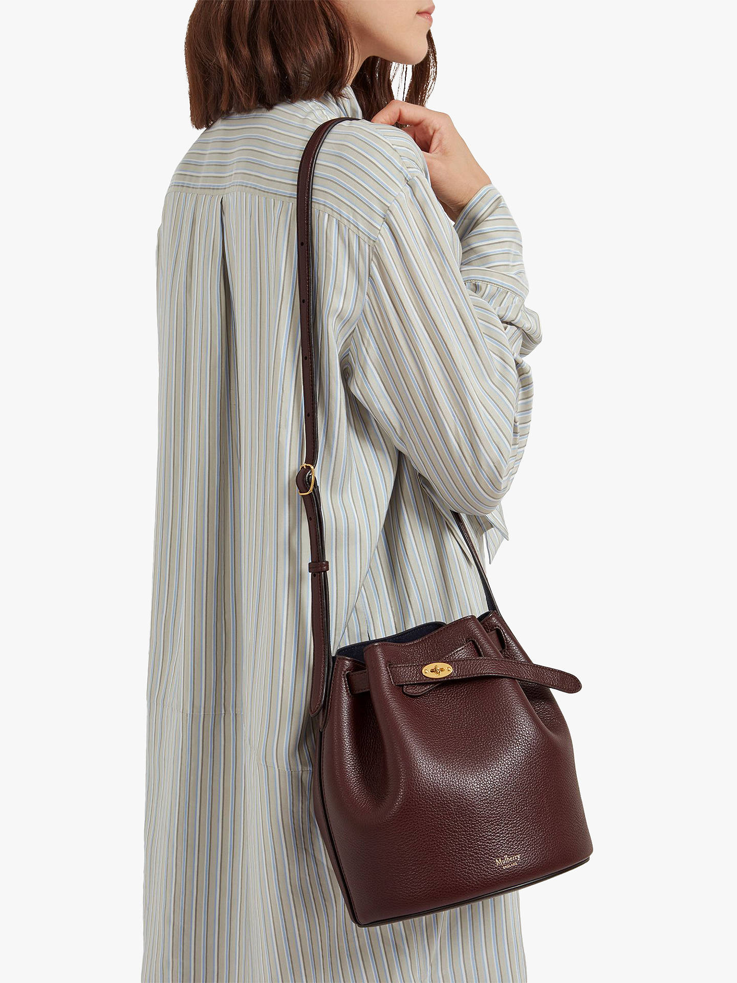 a6dbb0a72a Mulberry Abbey Small Classic Grain Leather Bucket Bag at John Lewis ...