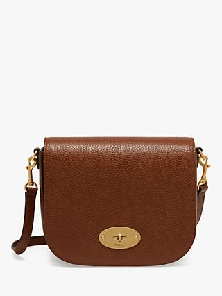 Mulberry Darley Grain Veg Tanned Leather Satchel, Oak