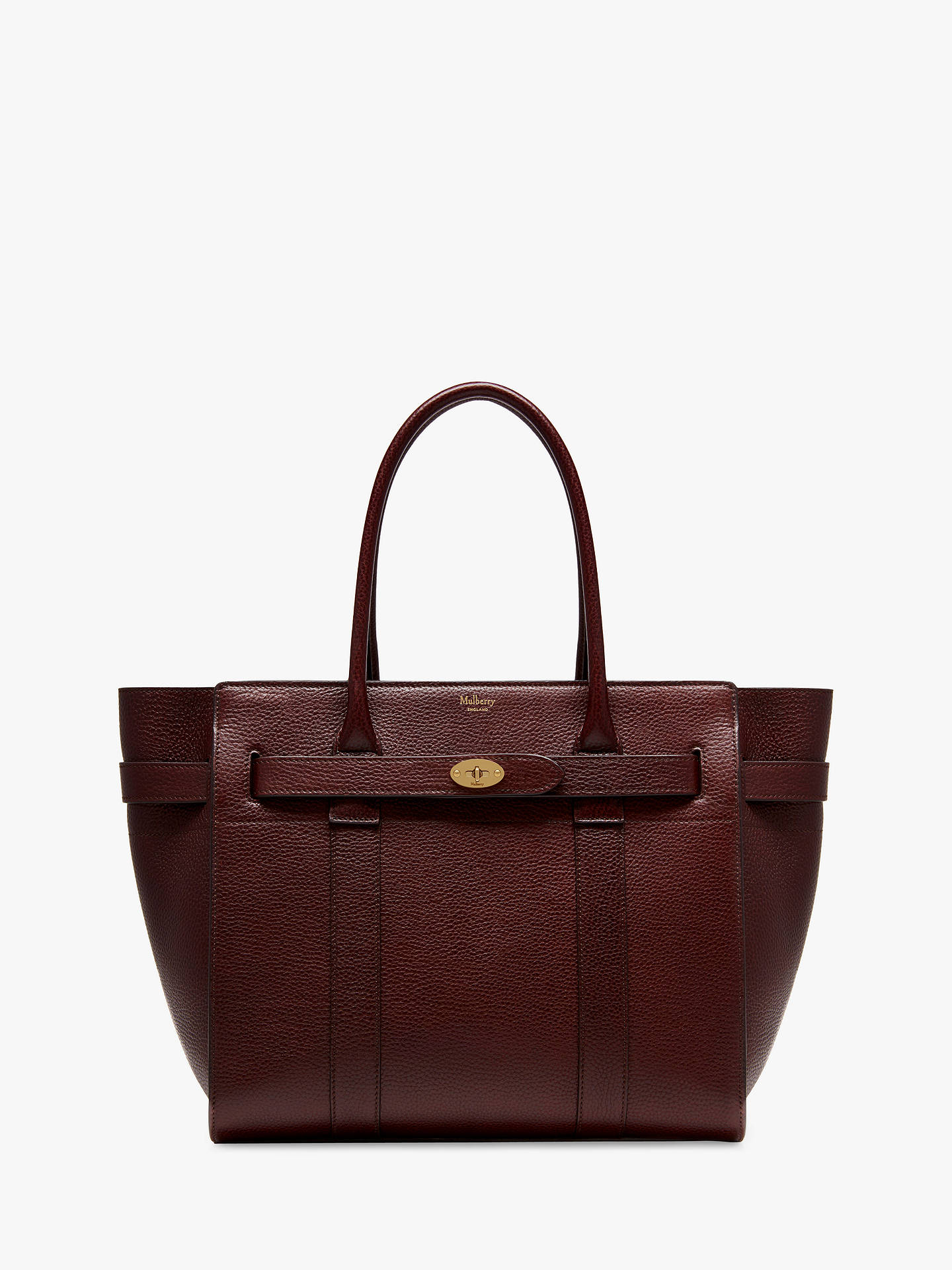 b9d1db3784 Mulberry Bayswater Zipped Grain Veg Tanned Leather Tote Bag at John ...