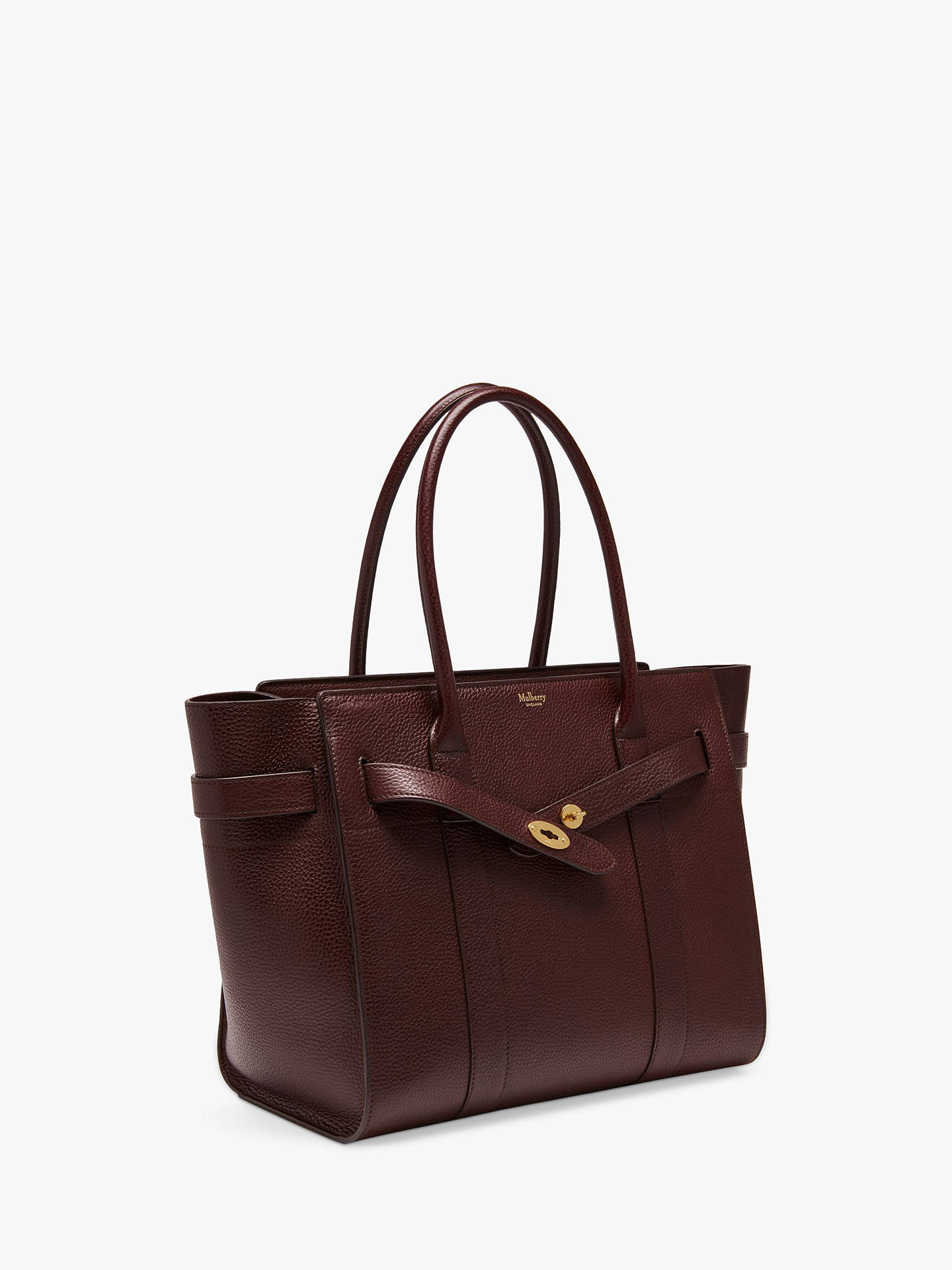 116f5e6effcb Mulberry Bayswater Zipped Grain Veg Tanned Leather Tote Bag at John ...