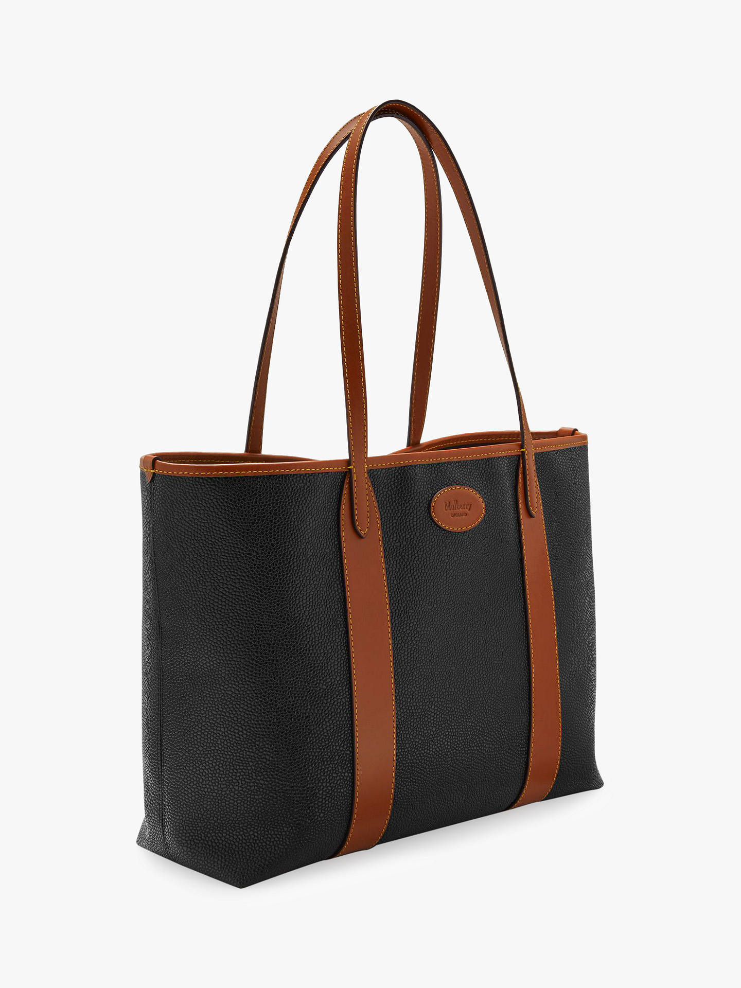 aedf9a343390 Mulberry Bayswater Scotchgrain Tote Bag at John Lewis   Partners