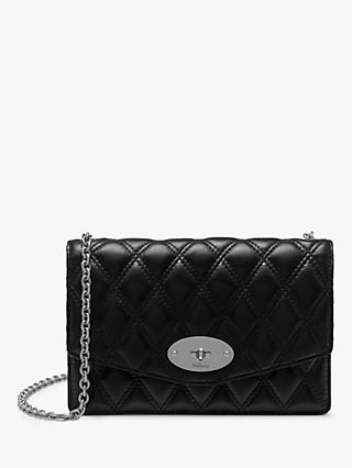 Mulberry Small Darley Quilted Smooth Calf Chain Clutch Bag, Black
