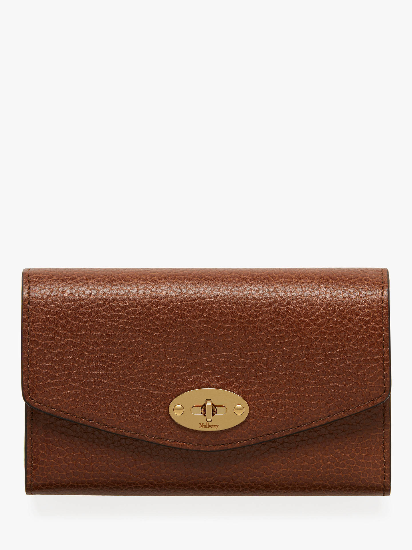 bc6a0beca291 Mulberry Darley Grain Veg Tanned Leather Medium Wallet at John Lewis ...