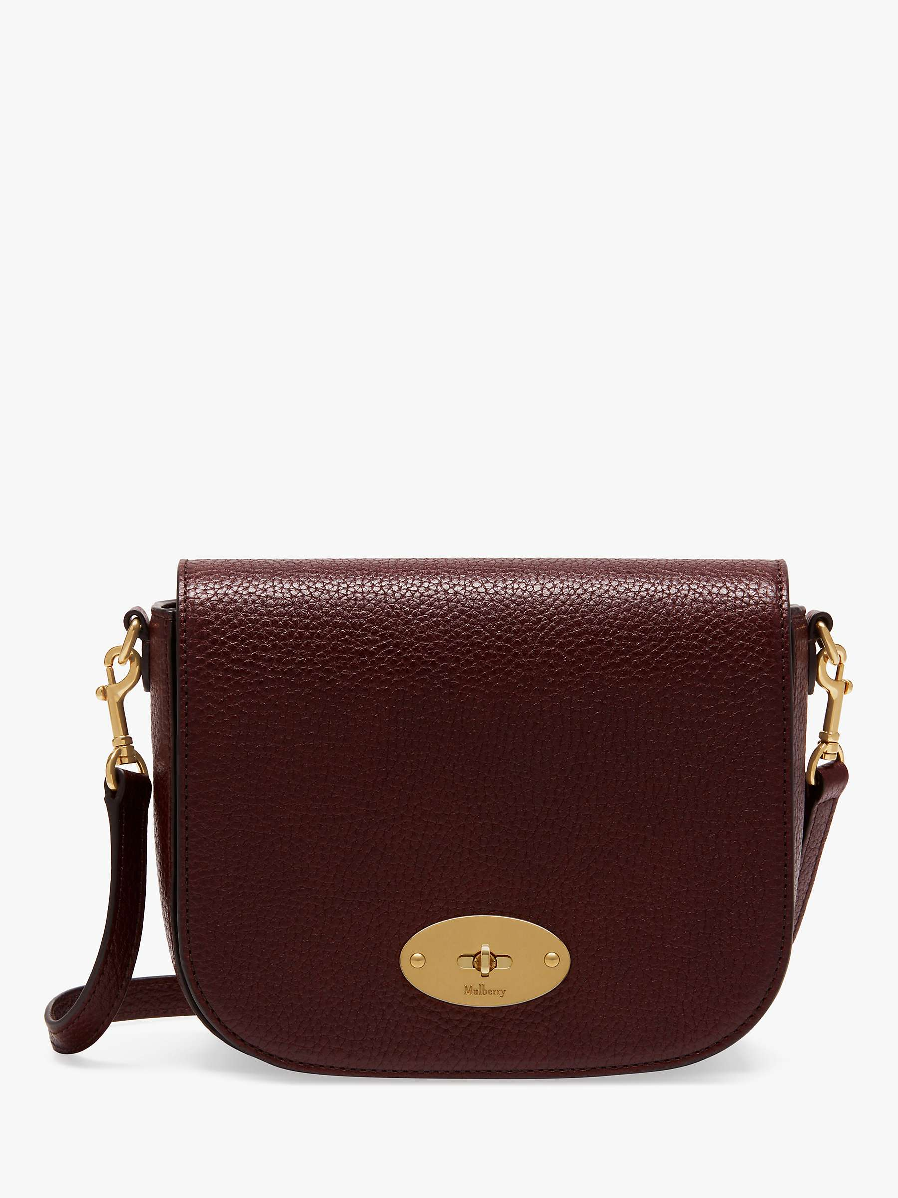 Mulberry Small Darley Grain Veg Tanned Leather Satchel Bag, Oxblood by John Lewis