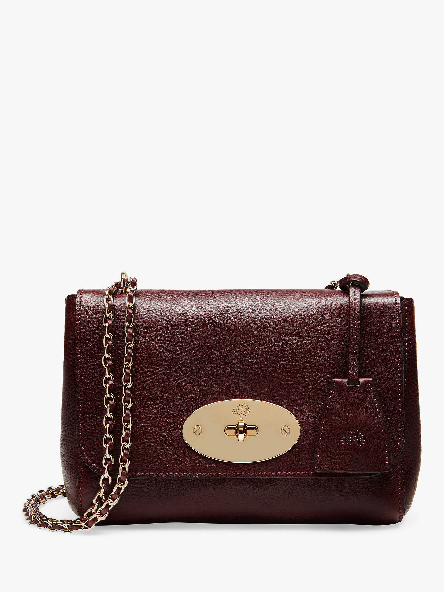 Mulberry Lily Coloured Veg Tanned Leather Cross Body Bag Oxblood Online At Johnlewis