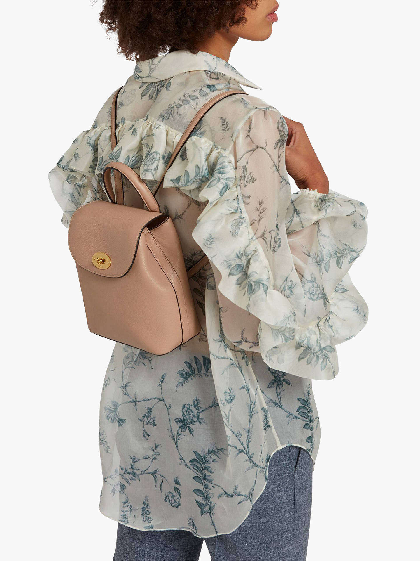 ... BuyMulberry Mini Bayswater Small Classic Grain Leather Backpack,  Rosewater Online at johnlewis.com ... 3edcbf3c9c