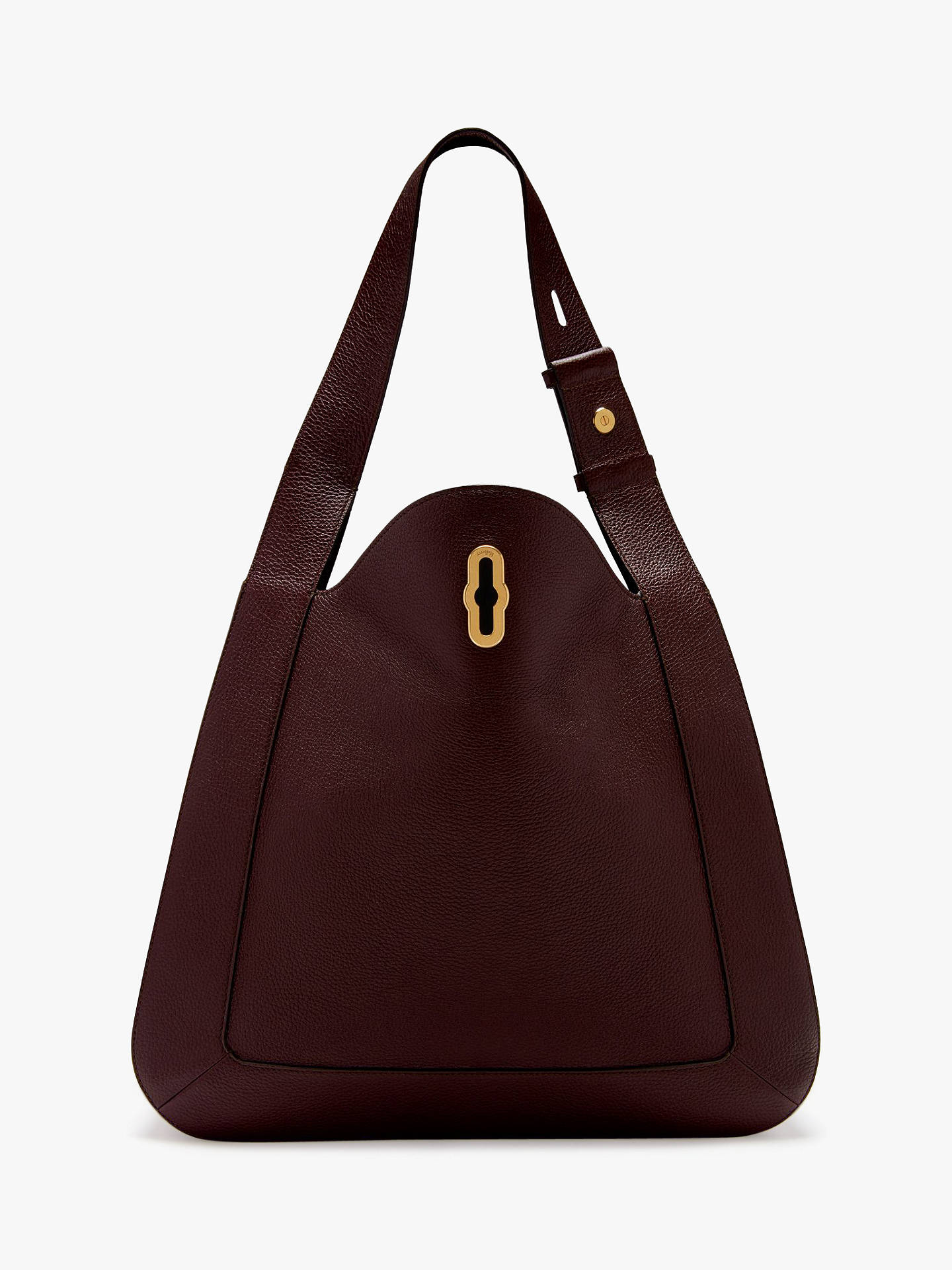 8af5649b75 Mulberry Marloes Small Classic Grain Leather Hobo Bag at John Lewis ...
