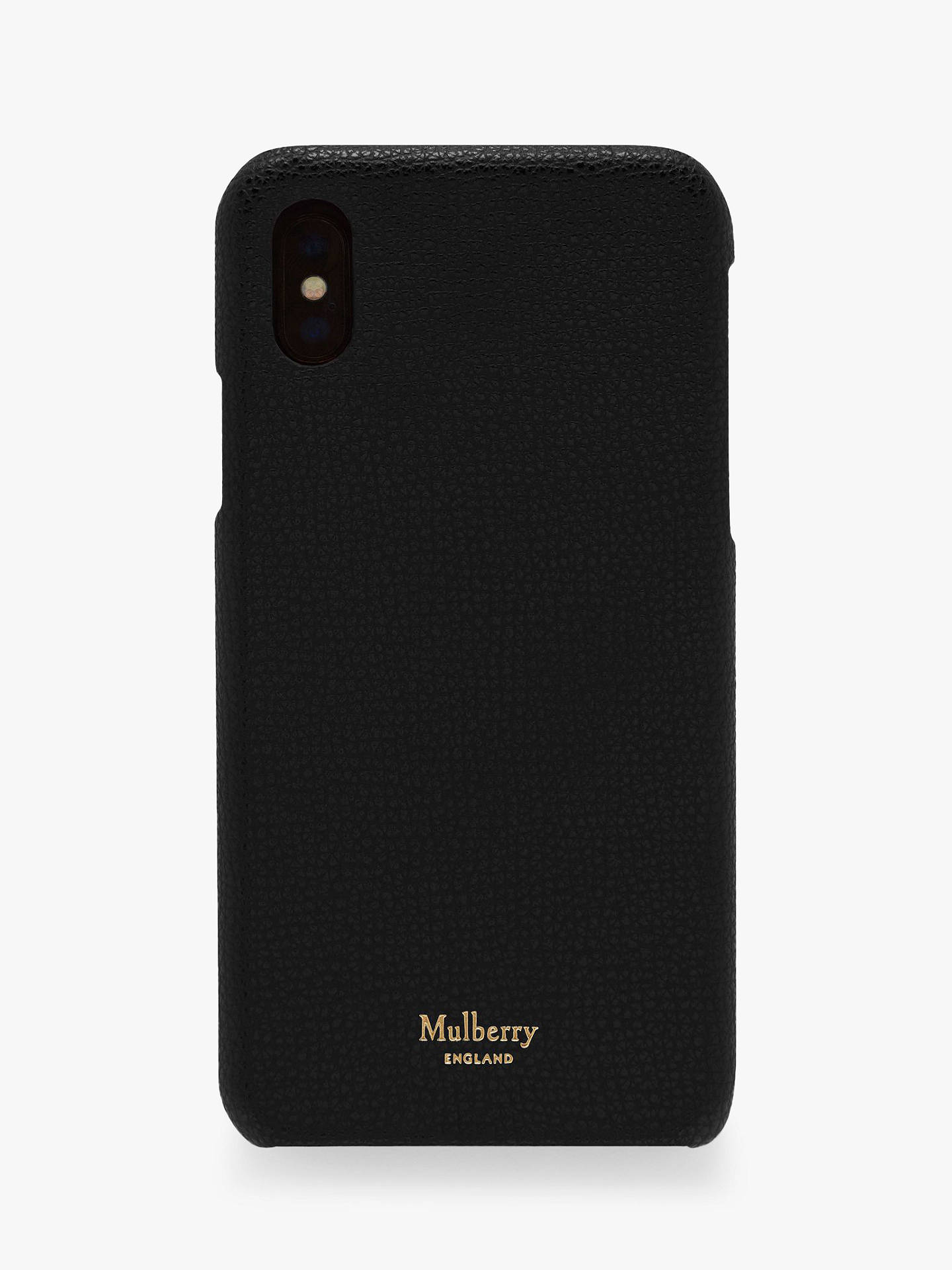 online store 7d444 478fb Mulberry Cross Grain Leather iPhone X/XS Cover, Black
