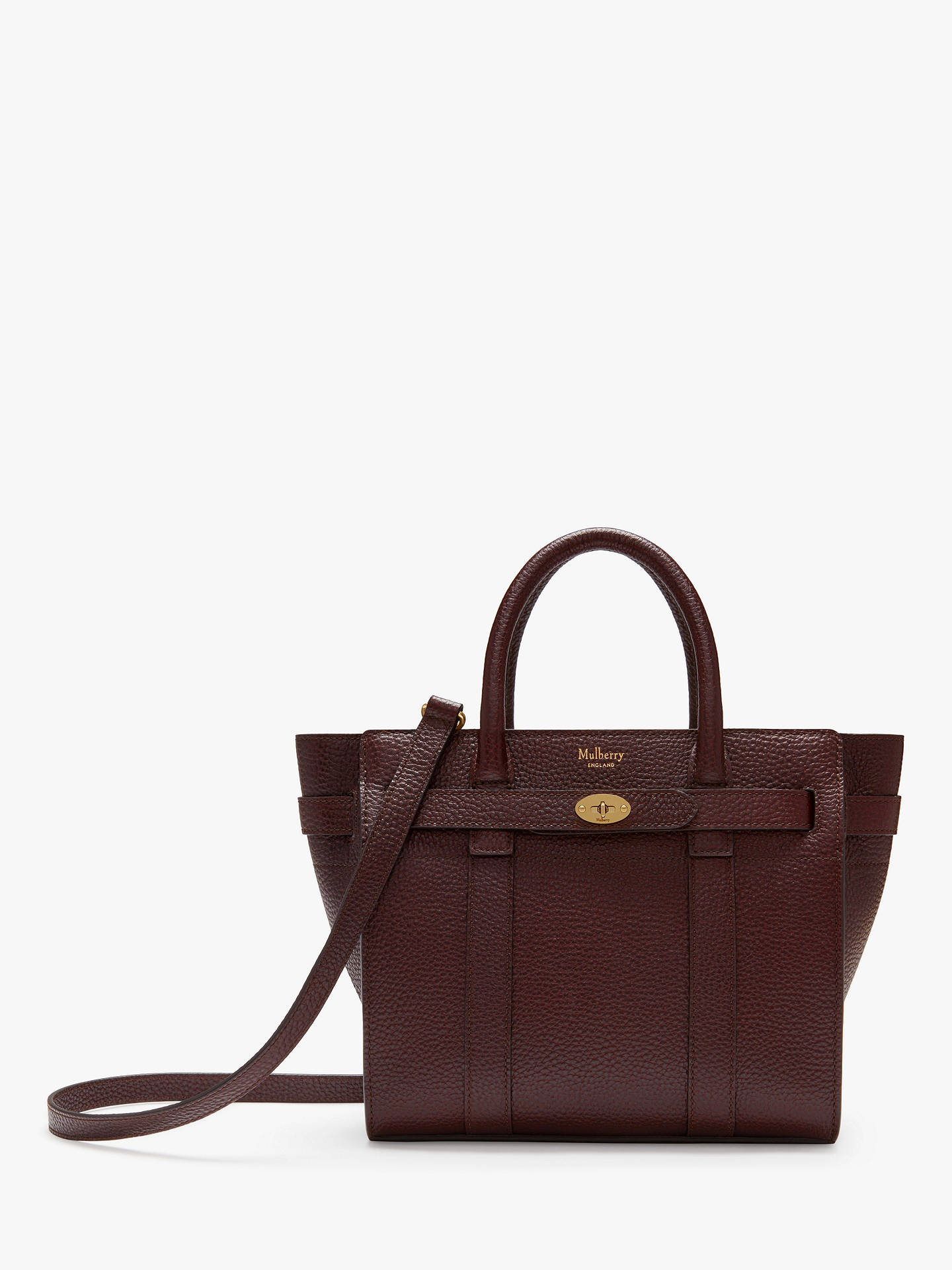 722dd93dea Mulberry Mini Bayswater Zipped Grain Veg Tanned Leather Tote Bag at ...