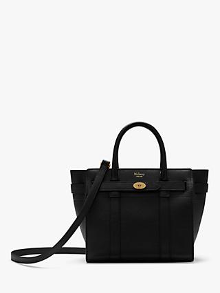 Mulberry Mini Bayswater Zipped Classic Grain Leather Tote Bag
