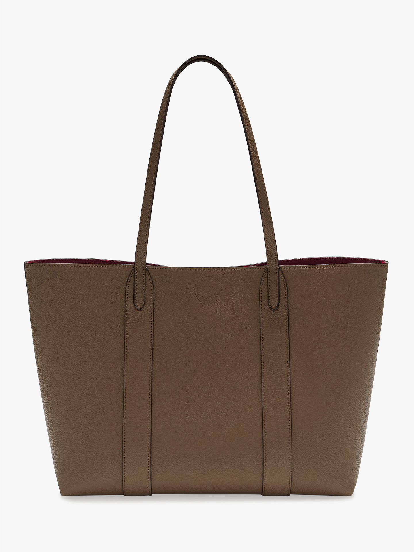 294122893a ... Buy Mulberry Bayswater Small Classic Grain Leather Tote Bag,  Clay/Oxblood Online at johnlewis ...