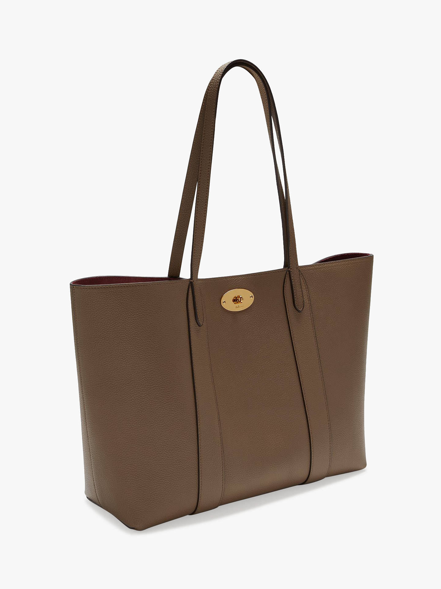 016bebaf2ac8d Buy Mulberry Bayswater Small Classic Grain Leather Tote Bag, Clay/Oxblood  Online at johnlewis ...
