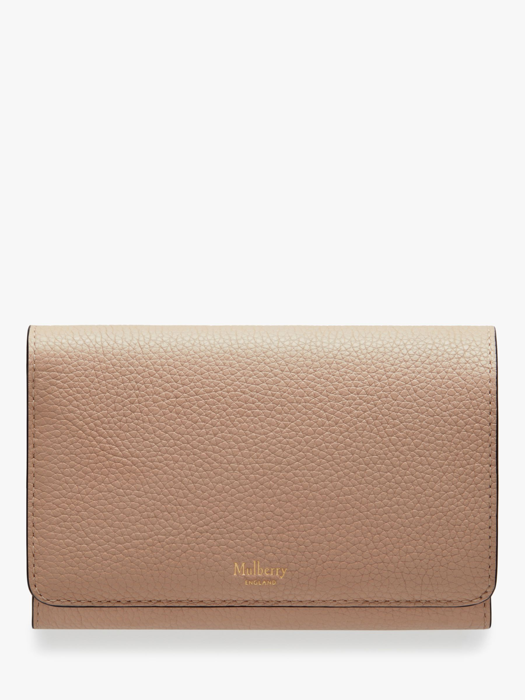 complete range of articles promotion the latest Mulberry Continental Small Classic Grain Leather Medium French Purse,  Rosewater