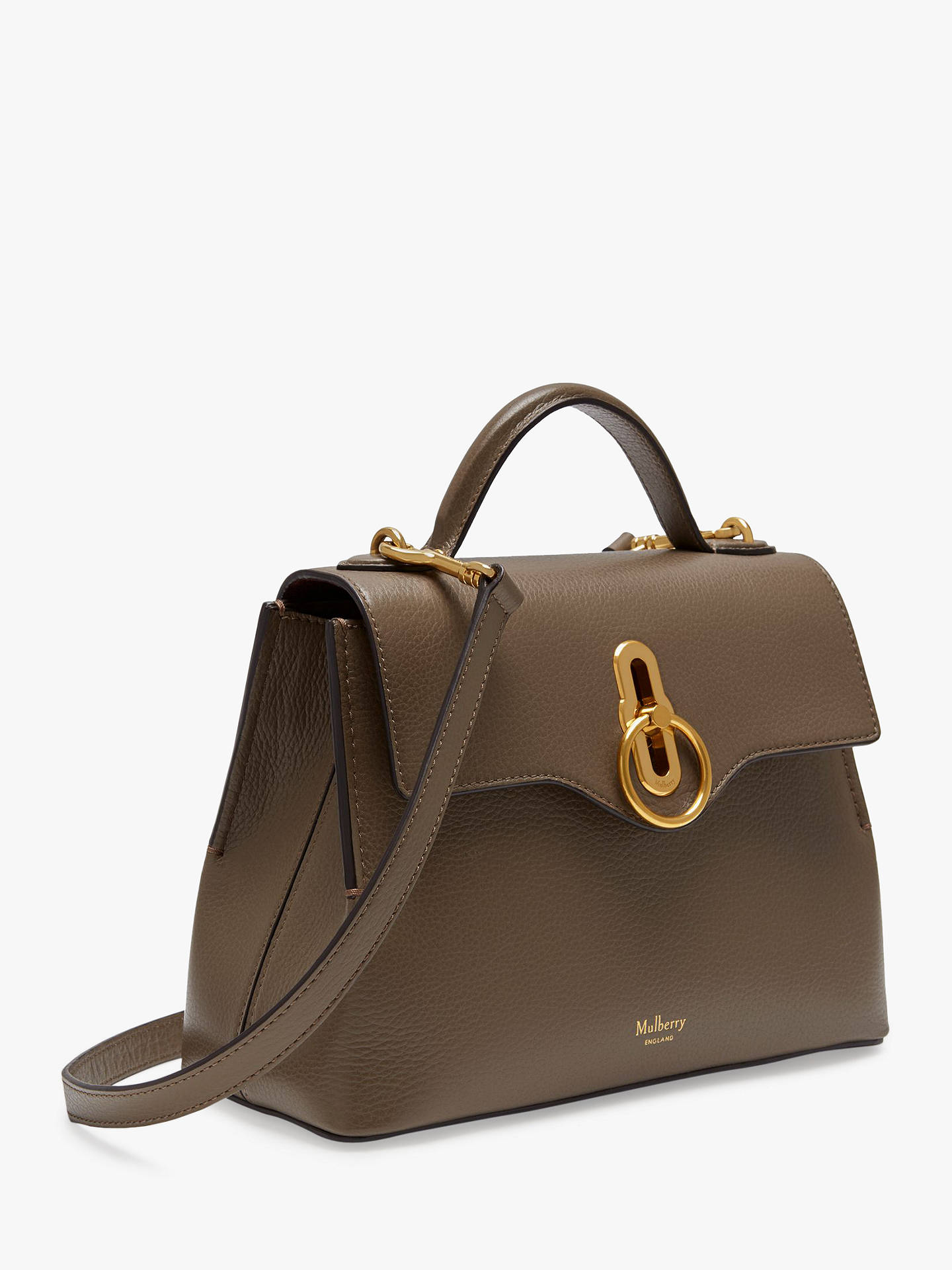 Buy Mulberry Mini Seaton Classic Grain Leather Shoulder Bag, Clay Online at johnlewis.com