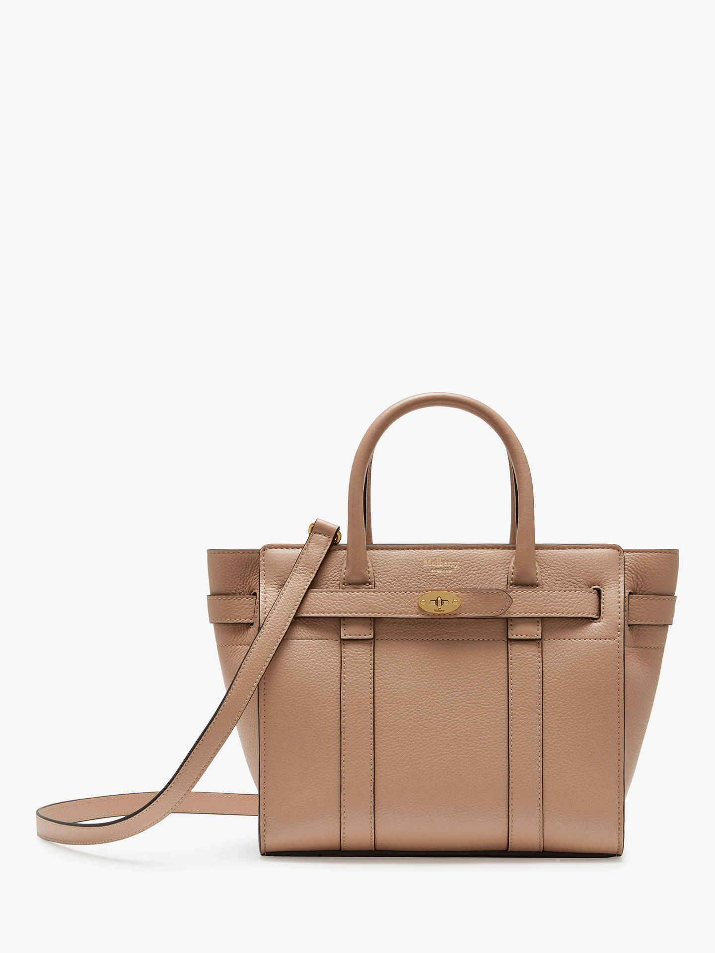 Mulberry Mini Bayswater Zipped Classic Grain Leather Tote Bag at ... dab5ee71bf325