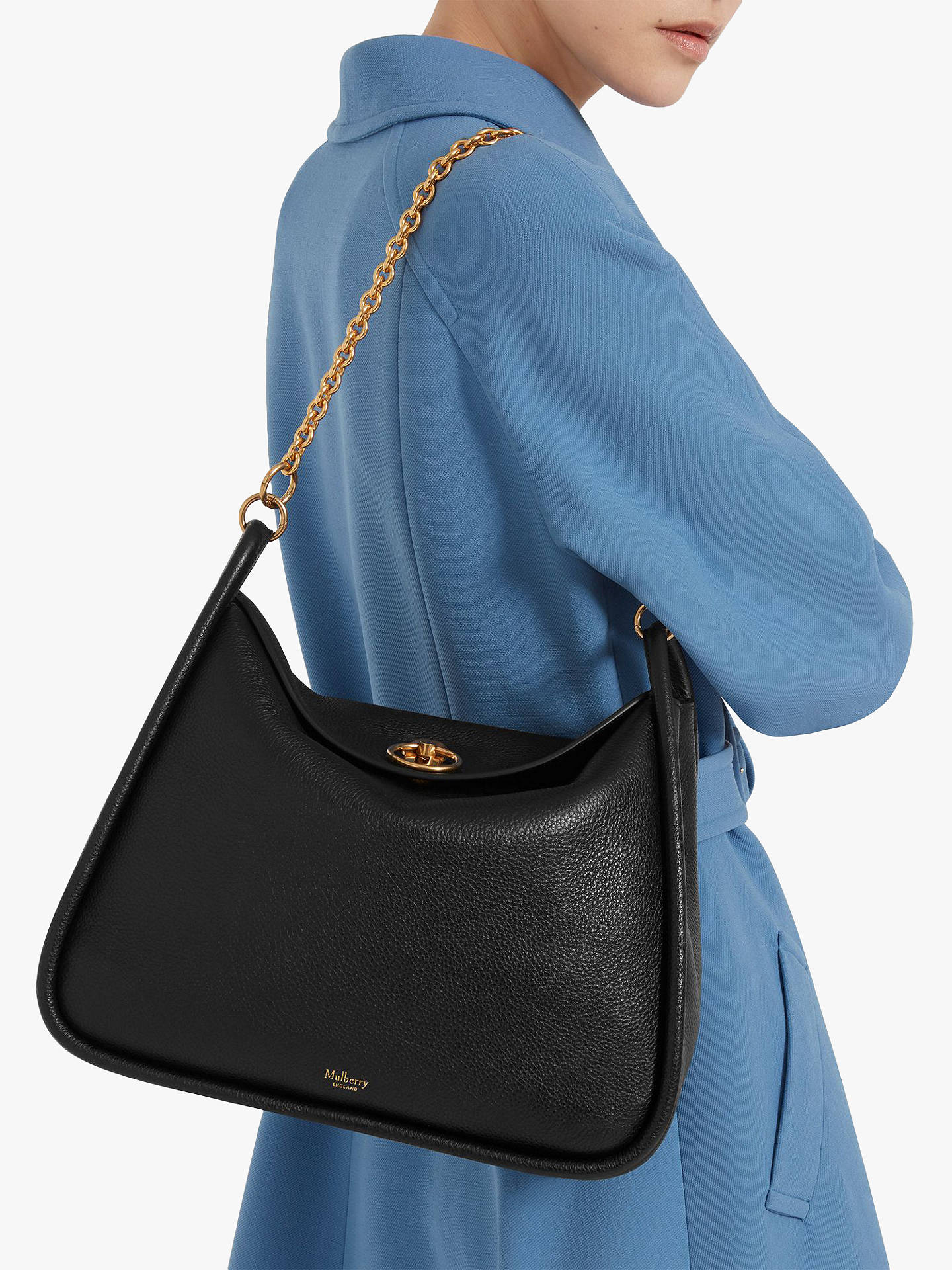 51e93ce30685 Mulberry Leighton Small Classic Grain Leather Shoulder Bag at John ...