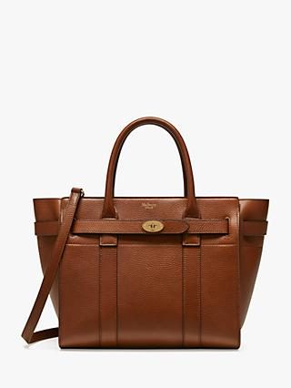 Mulberry Small Bayswater Zipped Grain Veg Tanned Leather Tote Bag