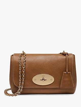 Mulberry Lily Natural Veg Tanned Leather Cross Body Bag Oak