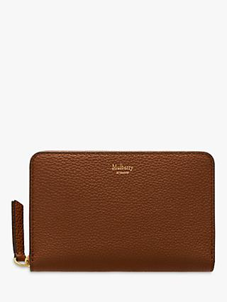 Mulberry Small Classic Grain Leather Medium Zip Around Wallet