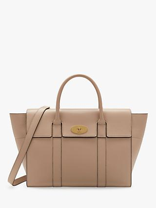 57d15d30237451 Mulberry Bayswater with Strap Small Classic Grain Leather Bag
