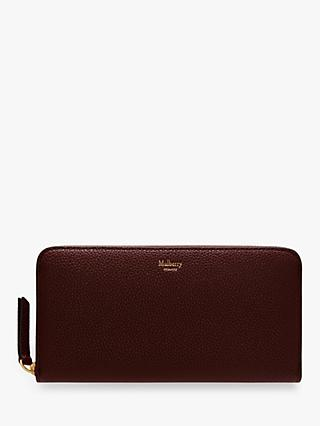 Mulberry Small Classic Grain Leather 12 Card Zip Around Wallet