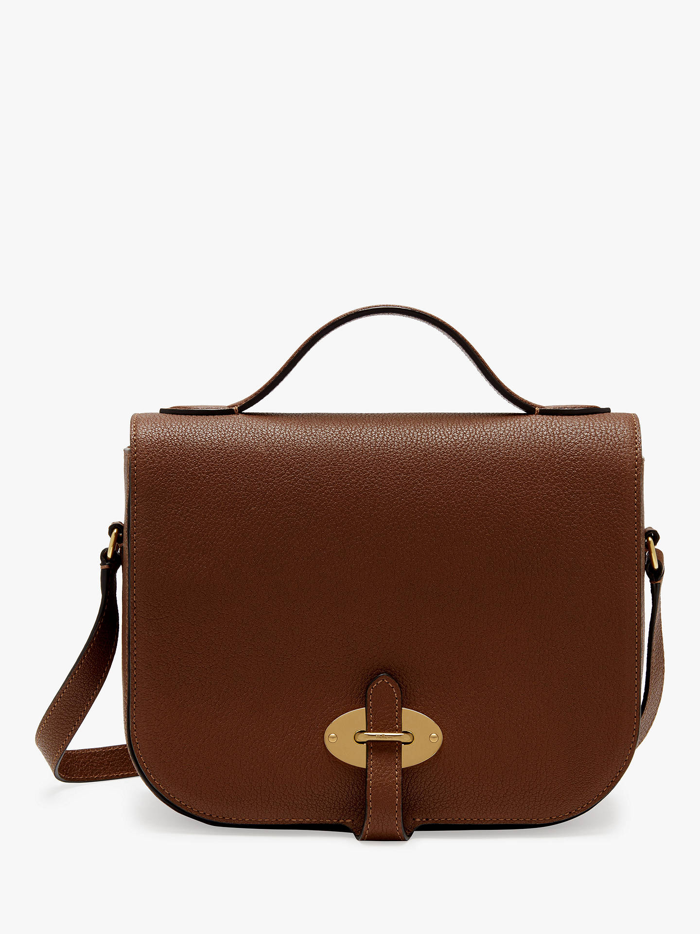 BuyMulberry Tenby Goat Textured Leather Satchel Bag, Tan Online at  johnlewis.com ... f9d359ff7f