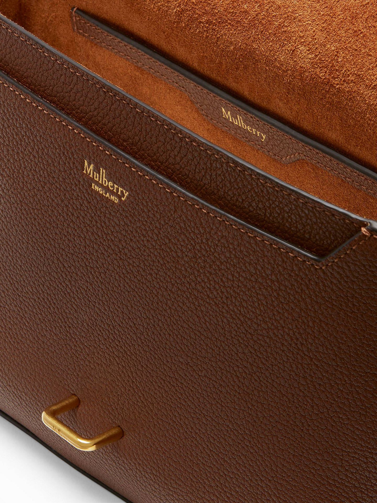 ... BuyMulberry Tenby Goat Textured Leather Satchel Bag, Tan Online at  johnlewis.com 61d5545657