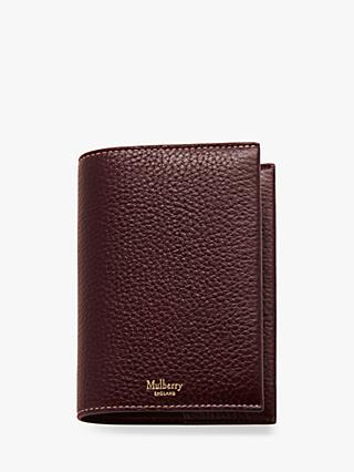 Mulberry Grain Veg Tanned Leather Passport Cover