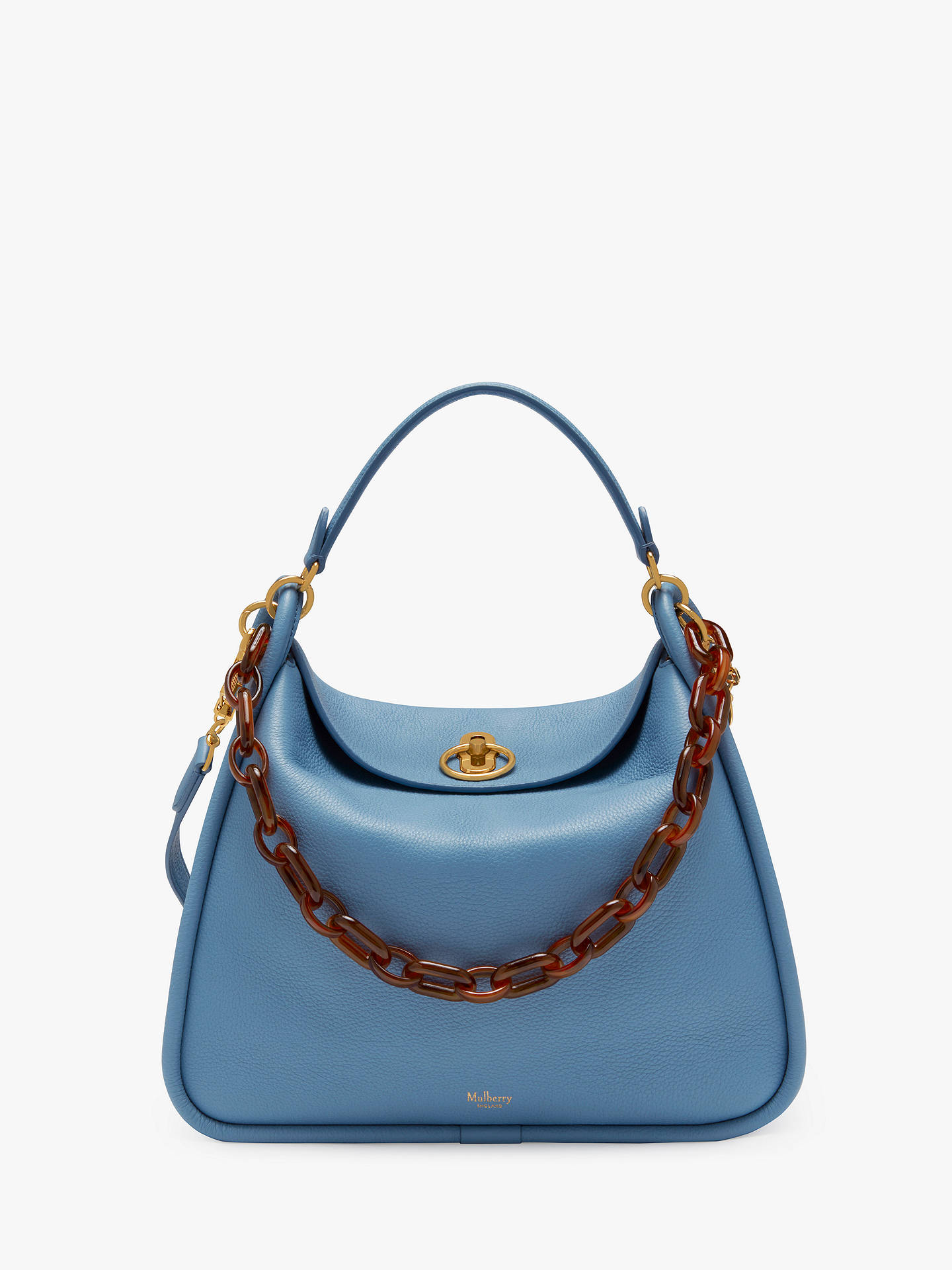 best supplier best sell timeless design Mulberry Leighton Small Classic Grain Leather Shoulder Bag ...
