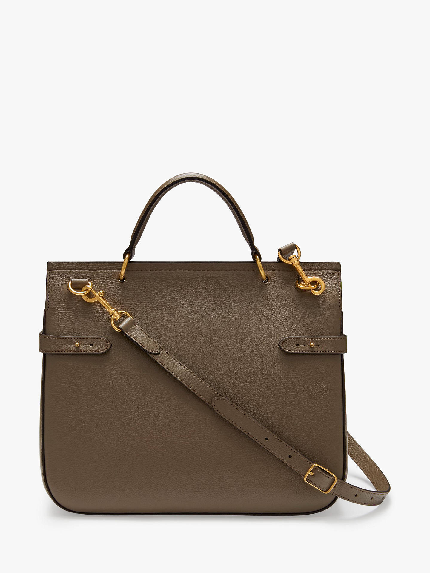 a659c1c66b0 ... BuyMulberry Amberley Small Classic Grain Leather Satchel Bag, Clay  Online at johnlewis.com ...